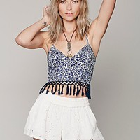 Free People Womens FP ONE Eastern Fringe Bralette -