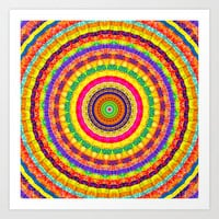 Batik Bullseye Art Print by Peter Gross