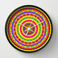 Batik Bullseye Wall Clock by Peter Gross