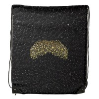 Bling moustache Drawstring Backpack