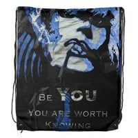 Caring Quotes (Be You) drawstring Backpacks