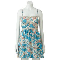 Trixxi Floral Crochet Dress - Juniors