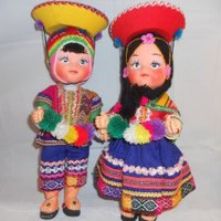 Aspenandes Peruvians Dolls for Collector Set of 2