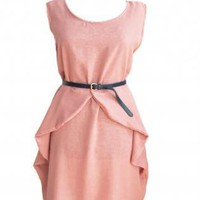 Pink Cocktail Dress - Summer dress | UsTrendy