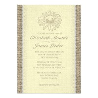 Yellow Vintage Lace Wedding Invitations