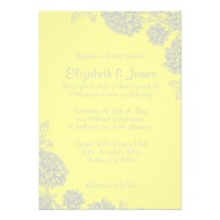 Elegant Yellow Wedding Invitations