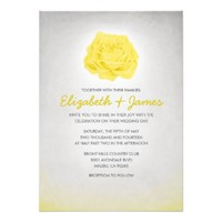 Trendy Floral Yellow Wedding Invitations