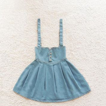 High Waist Retro Fashion Denim Skirt Tutu
