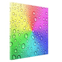3-D water droplet on chakra multi colors metallic