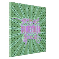 Retro girly polka dot special art 50's apple green