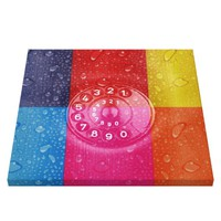 Popart multi color squares collages water droplets
