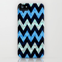 Blue Zigzag iPhone & iPod Case by Ornaart