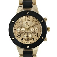 River Island Black Screw Bezel Watch