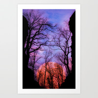 Moonrise Canyon Art Print by Pirmin Nohr