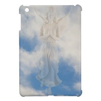 Angel in blue heaven cloudy sky by healing love