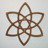 Double Trinity Knot - Wood Carved Celtic Knot -Basic Triquetra | signsofspirit - Woodworking on ArtFire