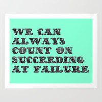 We Can Always Count on Succeeding! Art Print by Hoshizorawomiageteiru