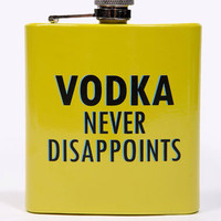Urban Outfitters - Flasque « Vodka Never Disappoints »