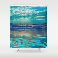 FANTA-SEA IN BLUE Shower Curtain by Catspaws