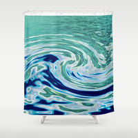 OCEAN ABSTRACT 2 Shower Curtain by Catspaws