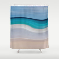 WAVESCAPE Shower Curtain by Catspaws