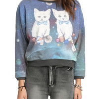Cats Are Watching From Space Girls Sweatshirt