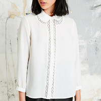 Cooperative Penny Collar Lace Blouse - Urban Outfitters
