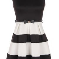 The Belted Colorblock Dress