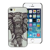 amtonseeshop New Fashion Hot Variou Painted Pattern Phone Hard Back Case for iPhone 5 5S (Elephant)