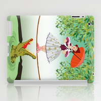 Halloween haunted mansion the girl with the crocodile apple iPad 2, 3 and iPad mini Case