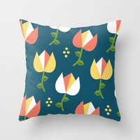 Floral Pattern 3 Throw Pillow by mollykd