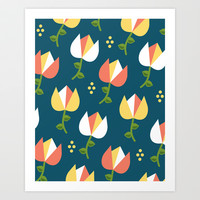Floral Pattern 3 Art Print by mollykd