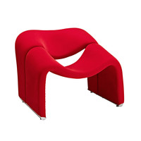 Dip & Sit Lounge Chair in Red