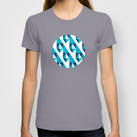 Geometric Pattern 2-Blue T-shirt by mollykd