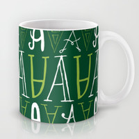 Alphabet pattern 3 Mug by mollykd
