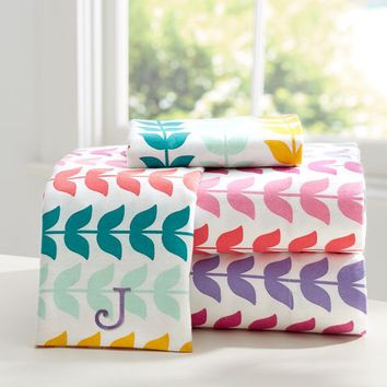 Vine Flannel Sheet Set