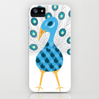 Geometric Peacock iPhone & iPod Case by mollykd