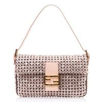 Crystal embellished Baguette bag