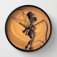 Fairy Of Peter Pan Wall Clock by LouJah