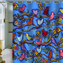 DENY Designs Home Accessories | Renie Britenbucher Spring Birds and Blossoms Shower Curtain