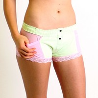 FOXERS - Mint Green and Pink Boxer Brief
