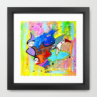 DON'T DREAM IT'S OVER Framed Art Print by Adka