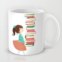Library Girl Mug by Stephanie Fizer Coleman