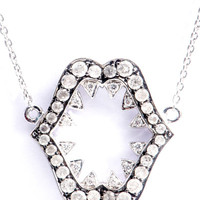 Diamond & gold Jaws necklace