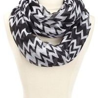TWO TONE CHEVRON INFINITY SCARF