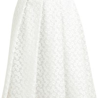 J.W. ANDERSON Floral Lace Pleated Skirt