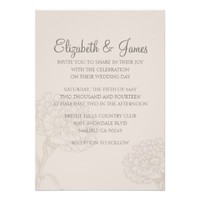 Custom Basic Modern Wedding Invitations