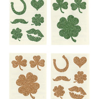 St. Patricks Day Glitter Temporary Tattoo Pack