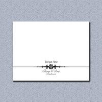 Elegant Simplicity Thank You Card - Customized with your names!