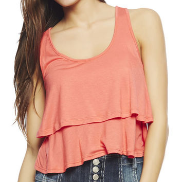 Double Layer Crop Top | Wet Seal